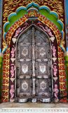 Colorful Ornate Temple Door Royalty Free Stock Image