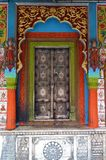 Colorful Ornate Temple Door stock photography