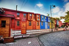 Colorful ottoman houses Stock Photography