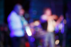 Colorful out of focus rock event Royalty Free Stock Images