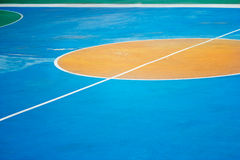 Colorful outdoor basketball court Stock Image