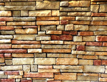 Colorful outdoor brick wall texture background Royalty Free Stock Photography