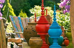 Colorful Outdoor decor Royalty Free Stock Photography
