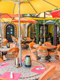 Colorful outdoor dining in Arizona Stock Photos