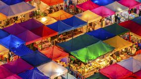 Colorful outdoor market Stock Images