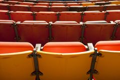 Colorful outdoor theater seats Stock Images