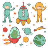 Colorful outer space collection Royalty Free Stock Image