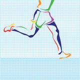 Colorful outline of runner Royalty Free Stock Photography