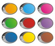 Colorful oval background - number step Royalty Free Stock Photography
