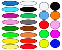 Colorful Oval and Circular Web Buttons Stock Images