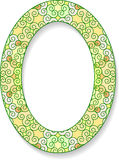 Colorful oval frame with shadow and blank space for your text. V Stock Photography