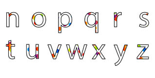 Colorful Overlap Circle Alphabet Vector Stock Images