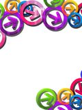 Colorful overlaped arrows, abstract background Royalty Free Stock Photos
