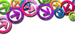 Colorful overlaped arrows, abstract background Stock Photos