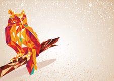 Colorful Owl bird illustration. Stock Image
