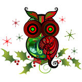 A Colorful Owl Charm. This cute owl is perfect for scrapbooking, textiles, or web page decorations Royalty Free Stock Photos