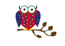 Colorful owl Stock Images