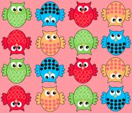 colorful owl pattern seamless Royalty Free Stock Images