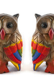 Colorful Owls Royalty Free Stock Images