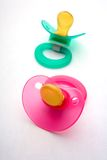 Colorful pacifiers Stock Image