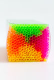 Colorful pack of plastic drinking straws Stock Photos