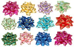 Colorful Packing ribbons isolated on white background. Royalty Free Stock Photos