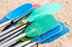 Colorful paddle Royalty Free Stock Images