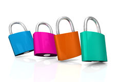 Colorful Padlocks Royalty Free Stock Image