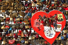 Colorful padlocks, Hohenzollern Bridge, Cologne Stock Image