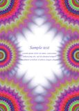 Colorful page border fractal ornament design. Abstract colorful page border fractal ornament design Royalty Free Stock Photography