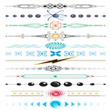 colorful Page border frame patterns Stock Images