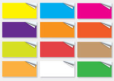 Colorful Page Curls Royalty Free Stock Photos