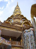 Colorful pagoda at Pa Son Kaew. In Phetchaboon province royalty free stock image