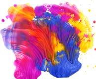 Colorful paint blot. Colorful gouache paint blot, design element Stock Photos