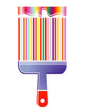 Colorful paint brush Royalty Free Stock Photos