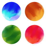 Colorful paint brush stain smears. Vector Royalty Free Stock Images