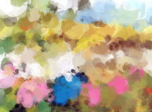 Colorful paint brush strokes background. Illustration Royalty Free Stock Images