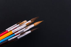 Colorful paint brushes Stock Photo