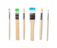 Colorful paint brushes Stock Image