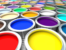 Colorful paint can Royalty Free Stock Photos