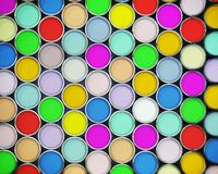 Colorful paint cans. Beautiful 3d background of colorful paint cans Royalty Free Stock Images