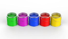 Colorful paint Royalty Free Stock Photos