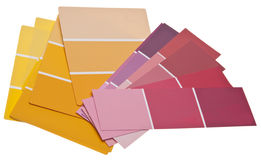 Colorful Paint Chips Stock Images