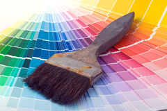 Colorful Paint Color Swatches Royalty Free Stock Image