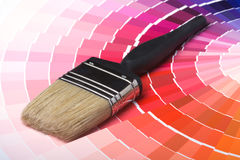 Colorful Paint Color Swatches Stock Photography