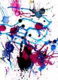 Colorful Paint Drips Stock Photo