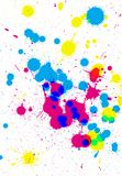 Colorful paint drops Royalty Free Stock Image