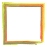 Colorful paint effect frame Stock Image