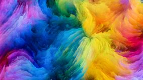 Colorful Paint Elegance. Color In Motion series. Composition of Flowing Paint pattern on the subject of design, creativity and imagination to use as wallpaper stock photos