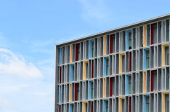 Colorful paint at facade of modern office building Stock Photos